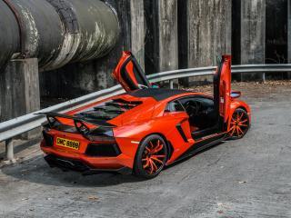 обои DMC Lamborghini Aventador LP900-4 Molto Veloce (LB834) 2012 двери фото