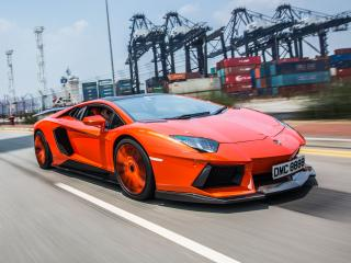 обои DMC Lamborghini Aventador LP900-4 Molto Veloce (LB834) 2012 сбоку фото