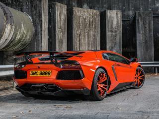 обои DMC Lamborghini Aventador LP900-4 Molto Veloce (LB834) 2012 сзади фото