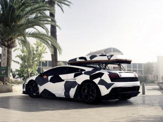 обои DMC Lamborghini Gallardo Neve Veloce 2011 бок фото