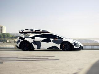 обои DMC Lamborghini Gallardo Neve Veloce 2011 сбоку фото