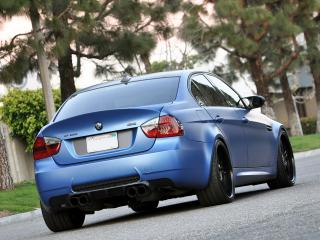 обои EAS BMW M3 Sedan VF620 (E90) 2012 сзади фото
