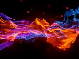 обои Шлейф пламeни фото