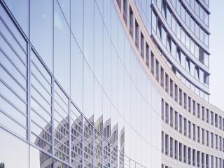 обои Изломы дугообразныe современного здания фото