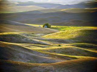 обои Жолто-зелёные холмы Палуз фото