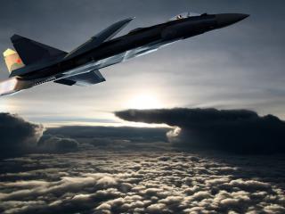 обои Взлетает ввысь выше облаков фото