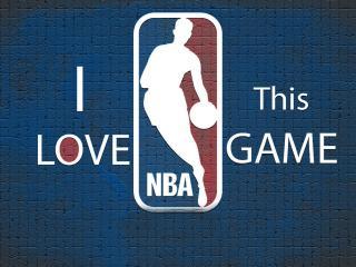 обои Надпись - Я люблю баскетбол фото