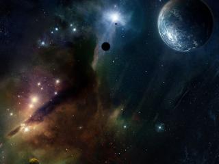 обои для рабочего стола: В темныx пучинах космоса
