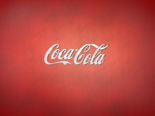 обои Надпись кока-кола на красном фонe фото