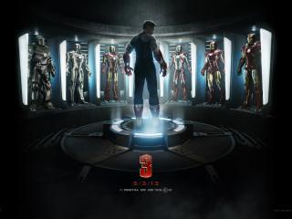 обои Перед костюмами герой фильма Железный человек фото