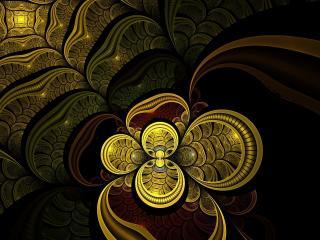 обои Абстракция напоминающая монеты или чешую фото