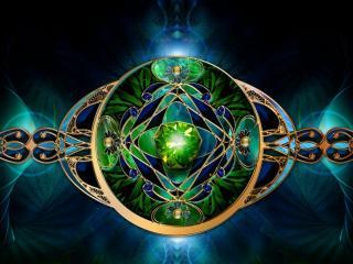 обои Зелёно-голубой браслет фото