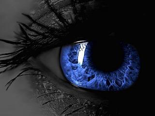 обои Рисунок голубого глаза фото