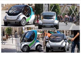 обои Hiriko Citycar EV 2012 в городке фото