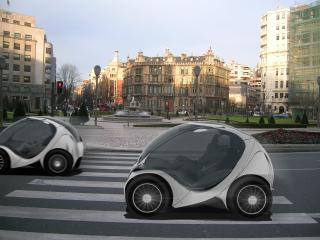 обои Hiriko Citycar EV 2012 дорога фото