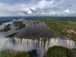 обои Водопад и небо фото