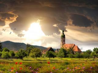 обои Деревенский пейзаж фото