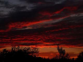 обои Тёмно-красный закат фото