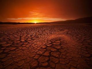 обои Закат в пустыне фото