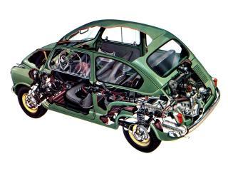 обои для рабочего стола: Fiat 600 1955 схема