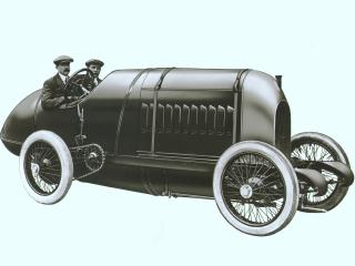 обои Fiat S.76 300 HP Record 1911 бок фото