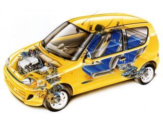 обои Fiat Seicento Sporting 1998 схема фото