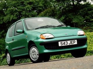 обои Fiat Seicento UK-spec 1998 боком фото