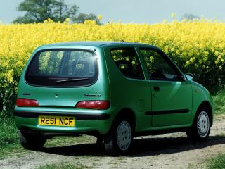 обои Fiat Seicento UK-spec 1998 зад фото