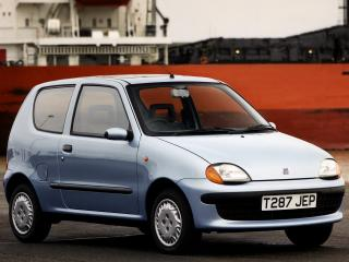 обои Fiat Seicento UK-spec 1998 сбоку фото