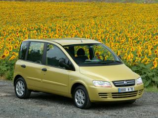 обои Fiat Multipla 2004 подсолнухи фото