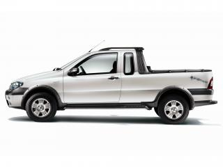 обои Fiat Strada Adventure EU-spec 2006 белая фото