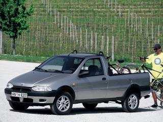 обои для рабочего стола: Fiat Strada EU-spec 1999 перед