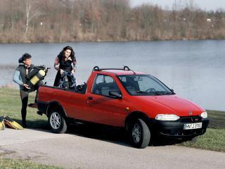 обои для рабочего стола: Fiat Strada EU-spec 1999 сбоку
