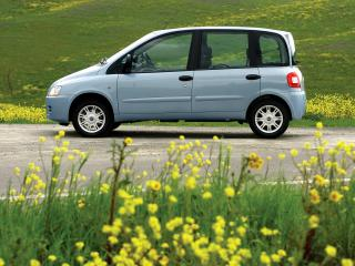 обои для рабочего стола: Fiat Multipla 2004 трава