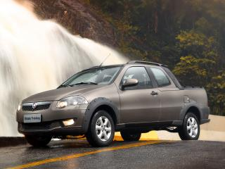 обои Fiat Strada Trekking CD 2012 водопад фото