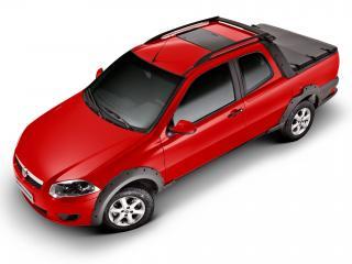 обои Fiat Strada Trekking CD 2012 красная фото