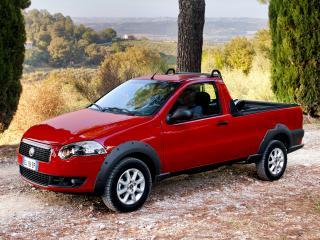 обои Fiat Strada Trekking Short Cab EU-spec 2012 сбоку фото