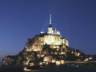 обои Остров-крепость Мон-Сен-Мишель,   Франция фото