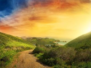 обои Дорога к морю фото