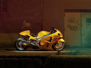 обои Желтый Suzuki Hayabusa фото