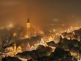 обои Городок Альбштад в тумане,   Германия фото