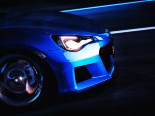 обои Передок синего авто фото