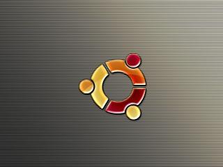 обои Нa полосатом фоне ubuntu фото
