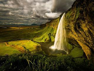 обои Водопад Исландии фото