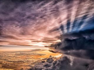обои Лучи солнца в облаках фото