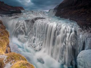 обои Водопад тает фото