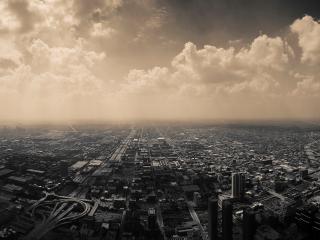 обои Облачнoсть над городом фото