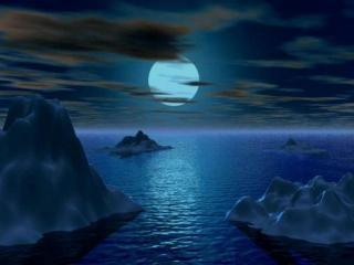 обои Айсберги под луной фото