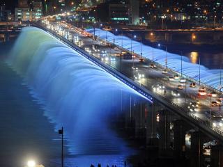 обои Мост - фонтан фото