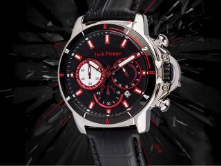обои Часы Jack Pierre с красными полосками фото